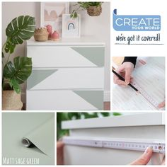 """Create Your World Ltd on Instagram: """"Trying a new style on these malm drawers, they can all look very 'same-y' so nice to put your own stamp on IKEA furniture!  . . . . .…"""" Malm Drawers, Ikea Furniture Hacks, Floating Nightstand, Create Yourself, Stamp, Canning, Bedroom, Nice, Instagram"""