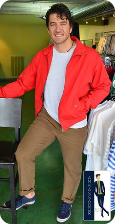 We'd like you to meet Bryan, a recent FLIP Ambassador. Bryan came in looking for something casual and found this awesome Fred Perry jacket, Alberto linen slacks & Clarks shoes to complete the laid-back look; which reminds us of the king of casual dress, James Dean! Thanks Bryan, you look great!