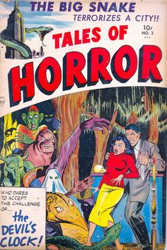 Comic Book Cover For Tales of Horror #3