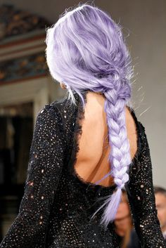 Lilac hair!! Mind as well wear a wig with all that damage to bleach your hair... Looks the same.. But definitely cute.
