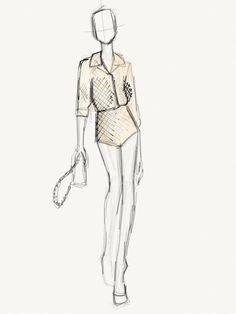John Jannuzzi's Fashion Week Sketchbook : Lucky Magazine marc jacobs