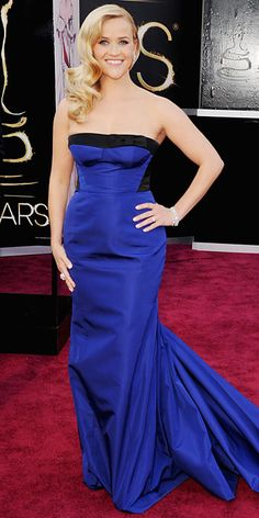 Dark Blues: Reese Witherspoon - Oscars 2013: Fashion Trends - Oscars 2013 - Celebrity - InStyle.com