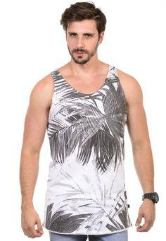 Regata Masculina Palm Leaves - Cupom de Desconto   diboa   676a4956b89