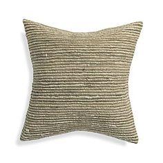 """Barnabas Neutral 20"""" Pillow - Crate & Barrell"""