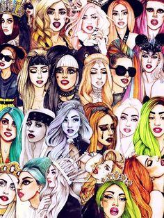 Helen Green collage of Gaga