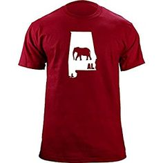 Original I Elephant Alabama Classic T-Shirt (L, Crimson) | Amazon.com