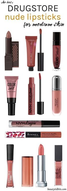Looking for the best drugstore nude lipstick for your fair-medium olive skin tone? Check out this handy guide to find your perfect neutral lip colors, all under $10! #lipcolorsforfairskin #lipcolorsguide #lipcolorsforskintone