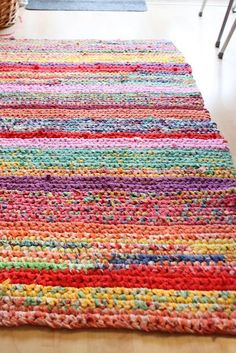 Crocheting Rag from old sheets