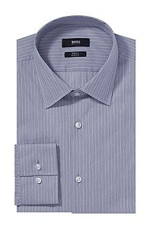 Slim-fit business shirt 'Jacob' with a Kent collar, Dark Blue