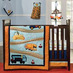 Construction - 4pc Crib Bedding Set