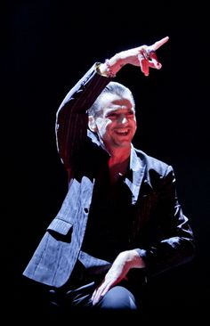 Dave Gahan of Depeche Mode performs at the Staples Center on September 28 2013 in Los Angeles California
