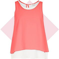 Girls pink double layer vest