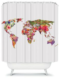 Bianca Green Its Your World Shower Curtain - contemporary - shower curtains - DENY Designs