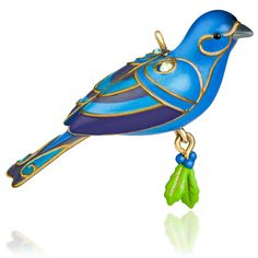 2015 Beauty of Birds Blue Bunting Hallmark Keepsake Ornament - Hooked on Hallmark Ornaments