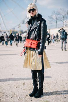 Неделя моды в Париже, осень-зима 2016: street style. Часть 5 (фото 4)