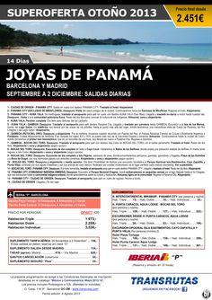 Joyas de PANAMÁ / 14 días ¡¡Superoferta Otoño: Septiembre a 2 Diciembre!! - http://zocotours.com/joyas-de-panama-14-dias-superoferta-otono-septiembre-a-2-diciembre/