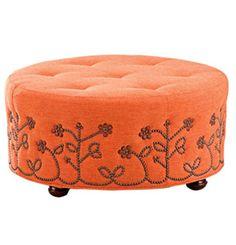 patterned ottoman