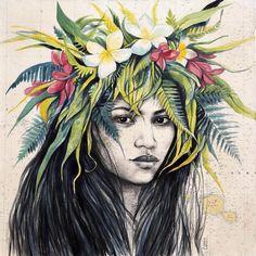 J'ai laissé une toile à Moorea, chez mon amie Fanny que j'étais allée voir en Polynésie. Elle s'appelle Hoahere, et je vous laisse Fanny ...