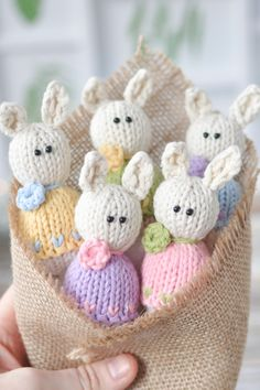 """Do your kids like """"Kinder Surprise""""? I guess they do! The most exciting thing in a chocolate egg is a surprise that they are waiting for… So, how about making handmade Easter egg with a surprise that will arouse their curiosity? Animal Knitting Patterns, Stuffed Animal Patterns, Crochet Patterns, Easter Crochet, Knit Or Crochet, Knitted Dolls Dress Pattern, Loom Knitting, Baby Knitting, Frozen Outfits"""
