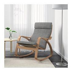 IKEA - POÄNG, Schommelstoel, Isunda grijs, , Het frame is gemaakt van gelaagd, vormgebogen beuken, een zeer sterk en duurzaam materiaal.De hoge rugleuning geeft een goede ondersteuning van de nek.De hoes is afneembaar en chemisch te reinigen en dus eenvoudig schoon te houden.Een breed assortiment kussens, waardoor je zowel je POÄNG als je woonkamer eenvoudig een nieuwe look geeft.Gratis 10 jaar garantie. Raadpleeg onze folder voor de garantievoorwaarden.
