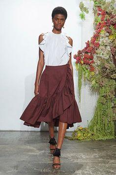 Готовая выкройка летней юбки с воланом Volantes db8d5e2b5427