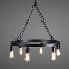 Heaven Wrought Iron Edison Bulb Hanging Pendant Light - Pendant Lights - Ceiling Lights - Lighting