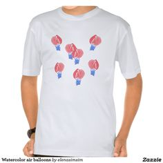 Watercolor air balloons