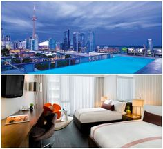 Rooftop pool at the Thompson Hotel - Top 10 Bachelorette Party Ideas – Toronto