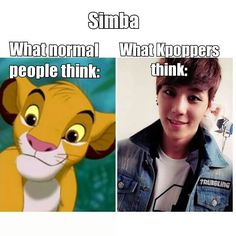 When I hear Simba i'm thinking of lion of the kings. And then I think about Simba in jjcc. Does this make any sense? Probably not..xD