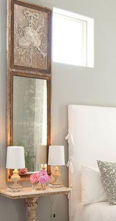 headboard~ mirror~ lamps