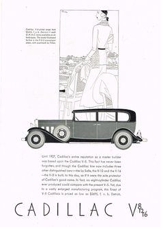 1931 Cadillac Advertisement Photo Picture