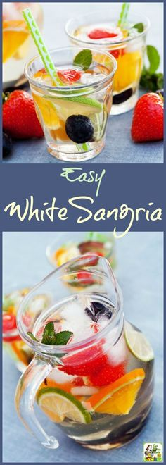 This Easy White Sangria recipe is perfect for backyard barbecue and pool parties. This summer time cocktail is made with Pinot Grigio and any type of fruit you like.!