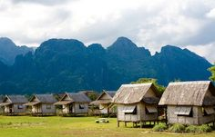 Our favorite place to stay in SE Asia was a little bungalow in Vang Vieng. Have you been to SE Asia?