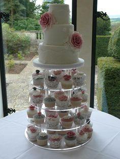 http://www.weddingacrylics.co.uk/round-cupcake-stands/sky-range.html #cake #wedding #cupcaketower #vintage #baking