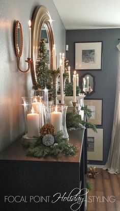 FOCAL POINT STYLING: NON-MANTEL MANTEL & BOOKSHELF HOLIDAY DISPLAYS