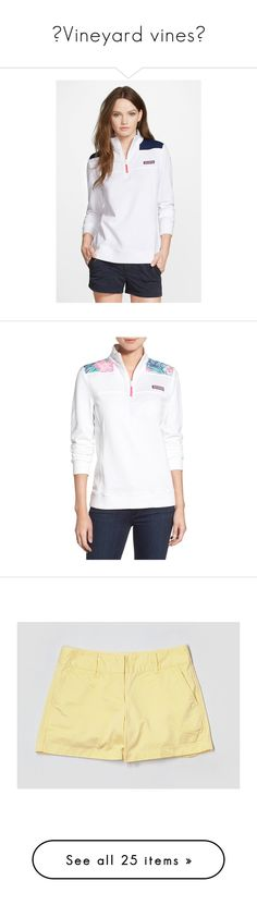 """""""Vineyard vines"""" by preppy-southern-girl88 ❤ liked on Polyvore featuring tops, sweaters, white cap, quarter zip sweater, sweater pullover, white pullover, pullover sweater, white top, t-shirts and flamingo"""