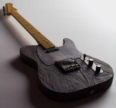 sand blasted guitar body