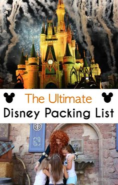 The Ultimate Disney Packing List - planning your Disney vacation with this packing list helps to make sure you have everything needed Packing List For Disney, Disney World Packing, Disney World Vacation Planning, Disney World Parks, Vacation Packing, Disney Planning, Disney Vacations, Disney Trips, Disney Worlds