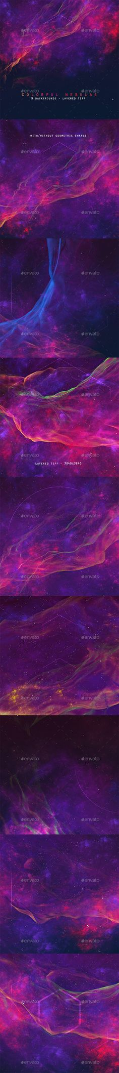Space Nebulas Background Set by Abdelrahman_El-masry | GraphicRiver