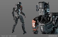 "ArtStation - Project June - ""Three"" the Robot, Mike Garn"