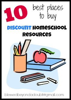 10 Best Places to get Discount Homeschool Resources! | Blessed Beyond A Doubt