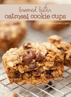 Browned Butter Oatmeal Cookie Cups just made these hoping they are yummy!!