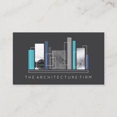 Shop Geometric Architecture Gray & Blue Business Card created by birchandoak. Personalize it with photos & text or purchase as is! Visiting Card Creative, Visiting Card Design, Gift For Architect, Architect Logo, Modern Business Cards, Business Card Design, Architecture Business Cards, Architecture Graphics, Ancient Architecture