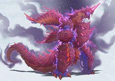 Embedded Fantasy Dragon, Anime Fantasy, Dragon Art, Fantasy Art, Alien Creatures, Fantasy Creatures, Mythical Creatures, Alien Concept Art, Creature Concept Art