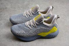 best service 7b542 c933b Mens adidas Alphabounce Beyond 2 M Grey Tan Yellow Shoes AQ0576-2 Yellow  Shoes,