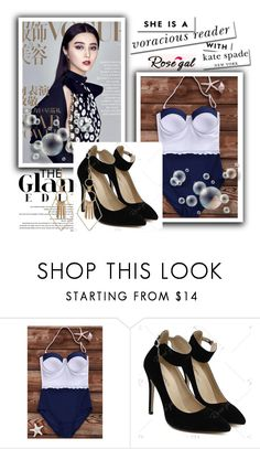"""""""// Rosegal-Women Style// 60/I"""" by lightcoti ❤ liked on Polyvore featuring Kate Spade"""