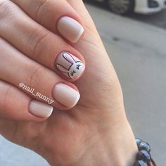 amazing designs of easter nails for your inspiration 27 ~ Modern House Design French Nails, Glitter French Manicure, Cute Nail Art, Cute Nails, Pretty Nails, Nail Polish Art, Gel Nail Art, Fall Manicure, Nails 2017