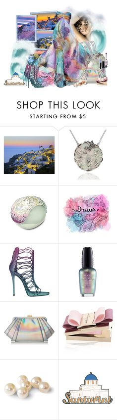 """Santorini...."" by mrkyblu ❤ liked on Polyvore featuring Mother, Wet n Wild, ZAC Zac Posen and Salvatore Ferragamo"