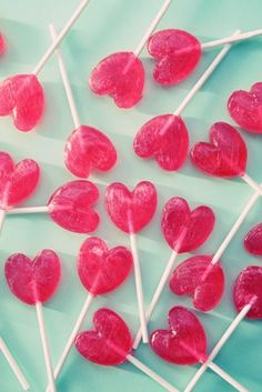 be my valentine - red heart lolly pops