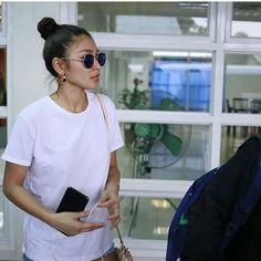 Nadine arrived in Legazpi July 29 2017 (ctto) Nadine Lustre, Jadine, Best Actress, Backstage, Presidents, Tv Shows, Celebs, Actresses, T Shirts For Women